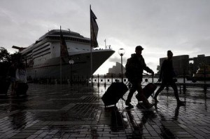 Passengers Leaving