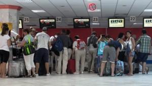Tourists Leaving