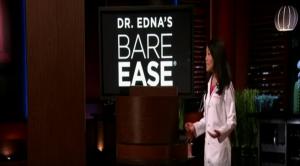 Dr. Edna explaining her product