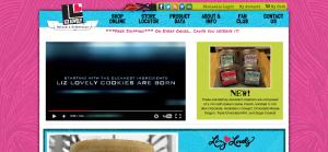 Liz Lovely Cookies Website