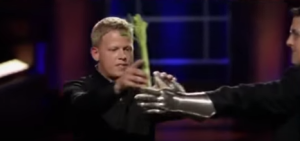 Rick giving Mark the celery for his trick