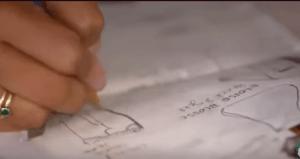 Lisa drawing the idea
