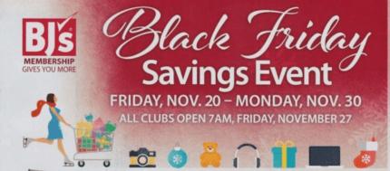 black friday 2015 deals at BJ's