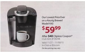 Don't miss the sale on the Keurig Elite Coffee Brewer on sale with Kohl's Black Friday sales going online now! Avoid the crazies and early morning rush and get the exact same prices then – NOW! Normally this is over $ – right now you can get it for $