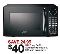 sunbeam-microwave-black-friday-target