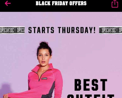 Vs pink black friday deals 2018