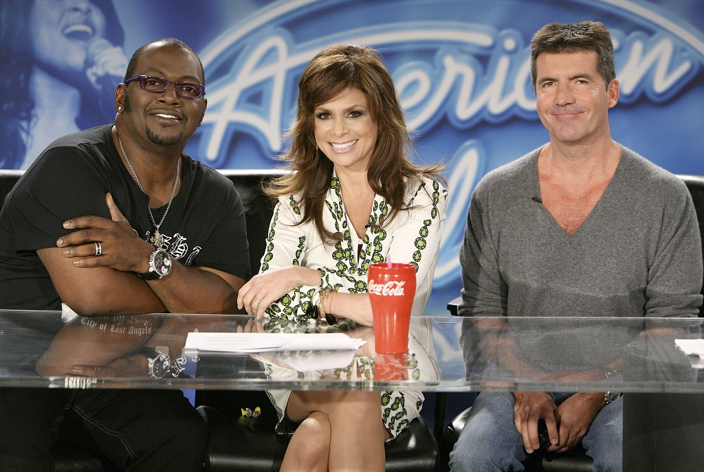 Randy Jackson, Paula Abdul and Simon Cowell, the original judges on Fox's American Idol.