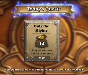 daily-quest-gold-only-the-mighty-hearthstone