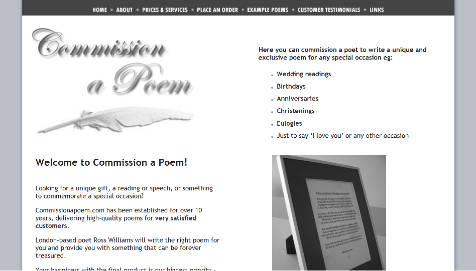 Commision a poem