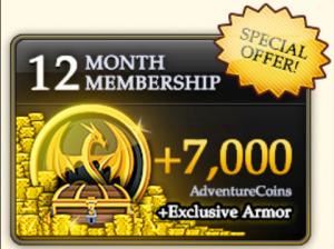 AdventureQuest Worlds Membership Benefits - Gazette Review