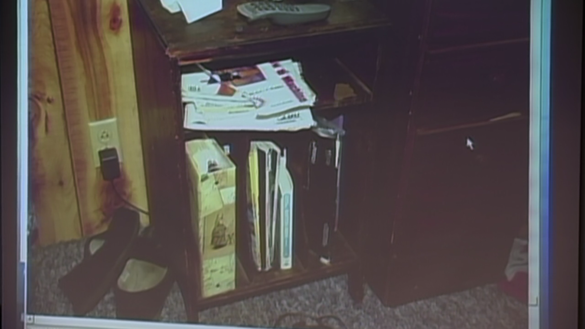 The shelf that the key was supposedly behind