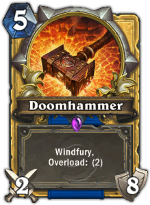 doomhammer-hearthstone-aggro shaman-top deck