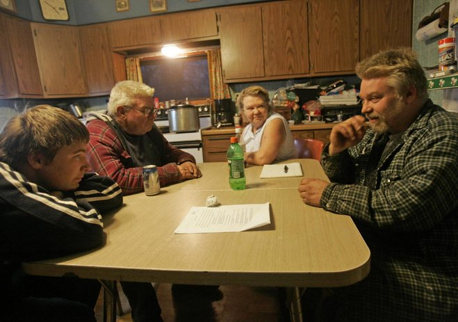 Brendan's extended family, with uncle Steven Avery on the right