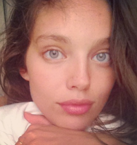Models with and without makeup comparison