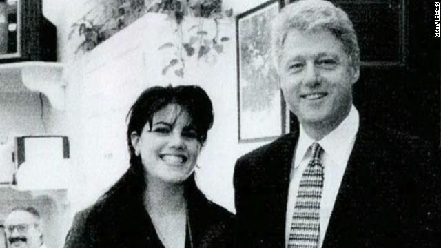 Monica Lewinksy as a White House intern