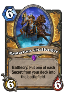 mysterious challenger-hearthstone-secret paladin-top deck