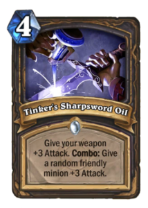 tinker's sharpsword oil-hearthstone-oil rogue-top deck