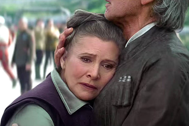 This still from The Force Awaken's trailer drew fans' interest to Fisher's reprisal