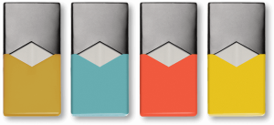 The design of the Juul Pods, which contain the actual e juice and atomizer