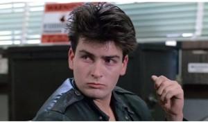 Even back in Ferris Bueller, Sheen was cultivating that coke-binge aesthetic