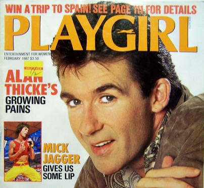 Before Kirk Cameron found religion, Thicke was promoting the show on the cover of Playgirl
