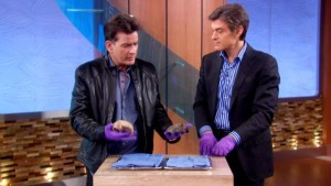 A lot of The Dr. Oz Show seems to involve having celebrities hold organs