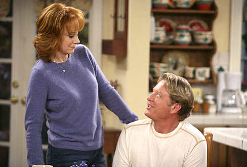 Reba McEntire and Christopher Rich on Reba