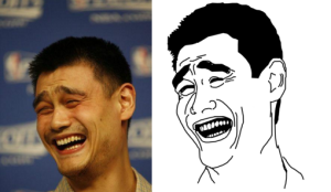 Yao Ming is also the face that this meme is depicting