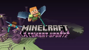 The new Minecraft update has finally come out! The player avatar in this picture is wearing the mentioned Elyra items, which allows for a user to fly/glide. Picture by Mojang