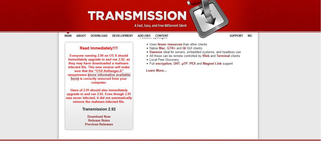 Transmission Alert Ransomware