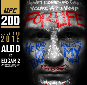 Also vs. Edagr II - the interim featherweight title up for grabs
