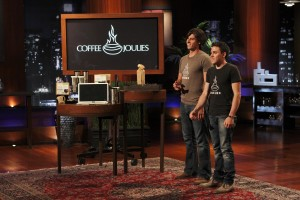 The two Daves - Jackson and Petrillo with the Coffee Joulies on Shark Tank