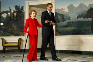 The Former First Lady with current President Barack Obama
