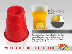 The 180Cup is an alternative to the classic, Red Solo cup that everyone knows and loves