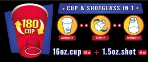 The details of the 180Cup, which includes a little notch at the bottom which can be great for shots or using for condiments