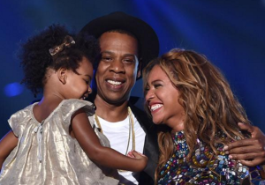 Beyoncé with husband Jay-Z and daughter Blue Ivy