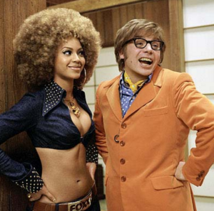 With Austin Powers in Goldmember