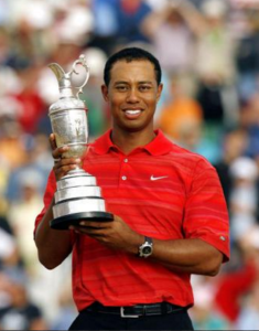 Holding The Claret Jug after winning The Open Championship