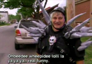 An example of the subtitles put under Don Vito's words on Viva La Bam