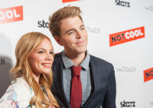 Shane Dawson and Lisa Schwartz on the red carpet for the premier of Not Cool