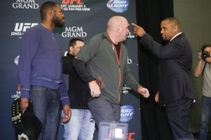 Daniel Cormier and Jon Jones have been poking at each other due to Jon Jones being stripped of the title, causing high emotions behind the fight