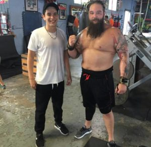 A photo of Bray Wyatt as recent as yesterday - he looks to be in great shape for his return