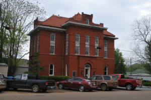 The town jail is one of the tallest and cleanest buildings in the city of Macon.