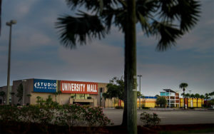 The main economic power in University is the small shopping mall within its borders.
