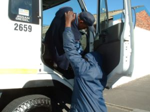 South African carjackers have escalated to stealing bigger trucks for use in cross-border crime.