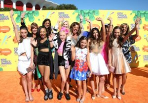 Abby Lee Miller and her cast at the 2015 Kids Choice Awards, where they won Favorite Reality Show