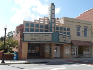 This small cinema is one of the very few establishments that remain viable within the city.