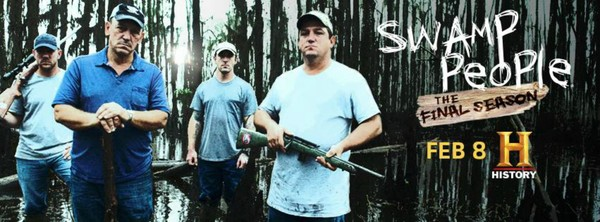 Advertisement for the 8th season of swamp people