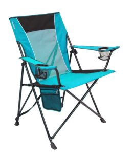 Bright blue camping chair