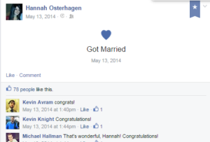 A facebook post from Hannah Minx